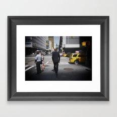 NYC modern mad men Framed Art Print