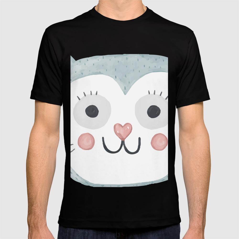 Cute Cartoon Cat Face T Shirt By Allenan Store Society6