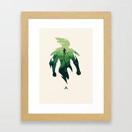 Javelin Green Framed Art Print