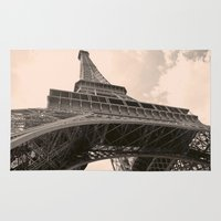 eiffel tower Area & Throw Rugs featuring Eiffel Tower by ib photography