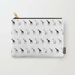 blak and white giraffe pattern Carry-All Pouch
