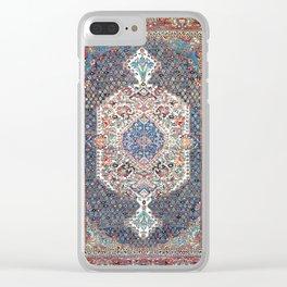 Bakhtiari Central Persian Rug Print Clear iPhone Case