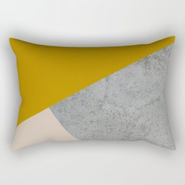 MUSTARD NUDE GRAY GEOMETRIC COLOR BLOCK Rectangular Pillow