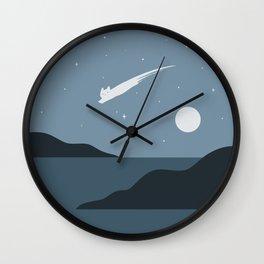 Cat Landscape 43 Wall Clock