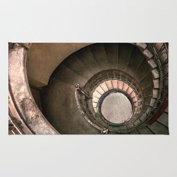 Spiral Brown Staircase Rug
