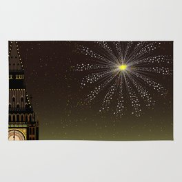 Big Ben And New Year Rug