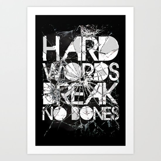 HARD WORDS Art Print