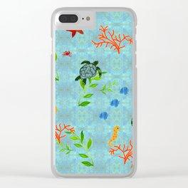 zakiaz enchanted sea Clear iPhone Case
