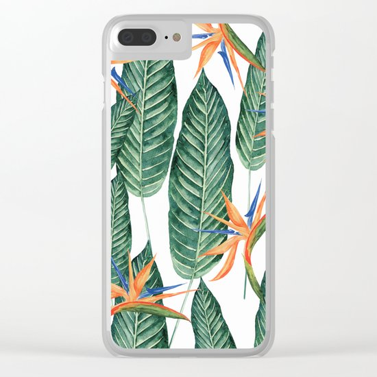 Banana And Flowers #society6 Clear iPhone Case