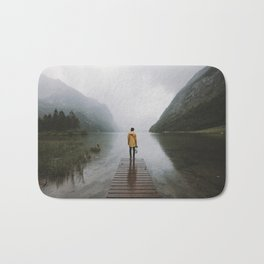 Mountain Lake Vibes - Landscape Photography Bath Mat