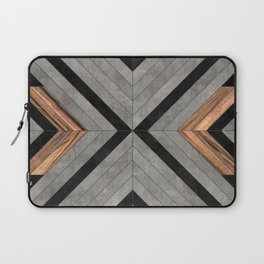 Urban Tribal Pattern No.2 - Concrete and Wood Laptop Sleeve