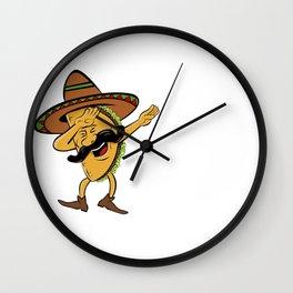 Cinco De Mayo Dabbing Taco Wall Clock