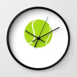 Shut Up and Serve Tennis Ball Sports T-Shirt Wall Clock