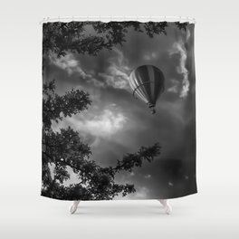 To the clouds Shower Curtain