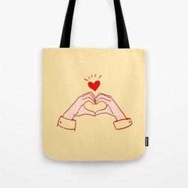 kpop hand heart sign  Tote Bag