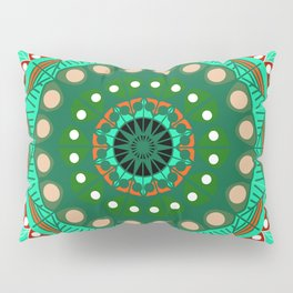 the blossoming of a forest mandala Pillow Sham