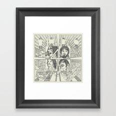 Fab Four Framed Art Print