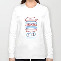 street Long Sleeve T-shirts featuring Street burger  by SpazioC