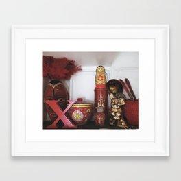 Red Knick Knacks in Copenhagen Framed Art Print