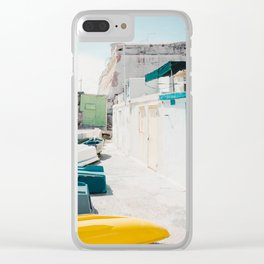 Coastal Fishing Village Clear iPhone Case