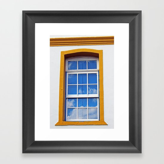 Window to the sky Framed Art Print