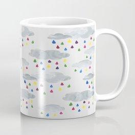 Rainbow Rain Clouds Coffee Mug