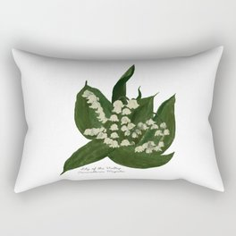 Lily of the Valley: Convalleria Majalis Rectangular Pillow