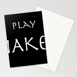 Play naked white on black. Stationery Cards