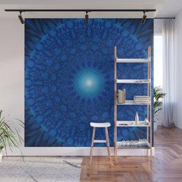 Mandala blue 2 Wall Mural