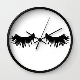 Eyelash Print Wall Clock