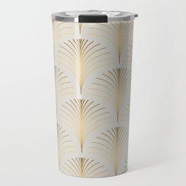 Golden Fan Art Deco Classic Pattern Travel Mug