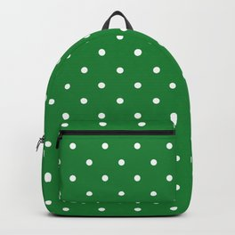 Cactus Green Dot Pattern Decorative Background Backpack