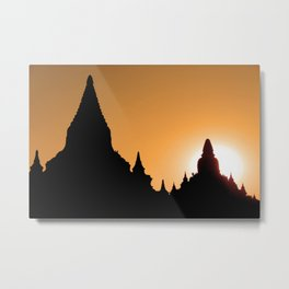 Bagan in Silhouette Metal Print