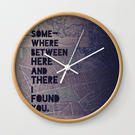 Here & There Wall Clock