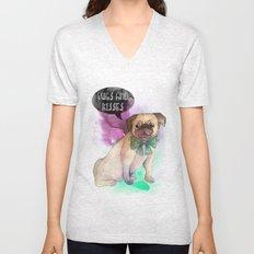 Pugs and kisses Unisex V-Neck