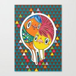 Polypop 2 Heads Canvas Print