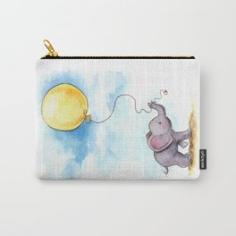 Baby elephant  with yellow balloon Carry-All Pouch