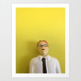 Yellow Accountant Art Print