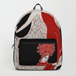 "Art Deco Fashion Design ""Alphabet Cloak"" Backpack"
