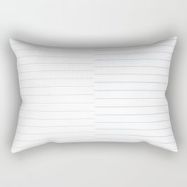 Blue Geo Print Rectangular Pillow