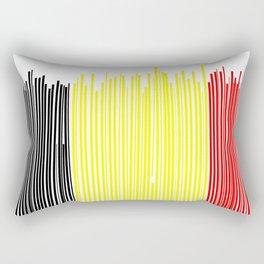 Belgian flag Rectangular Pillow