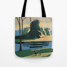 Thunder Bluff Classic Rail Poster Tote Bag