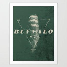 BUFFALO FACTORY Sepia Feather Art Print