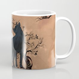 Awesome wolf in black and white Coffee Mug