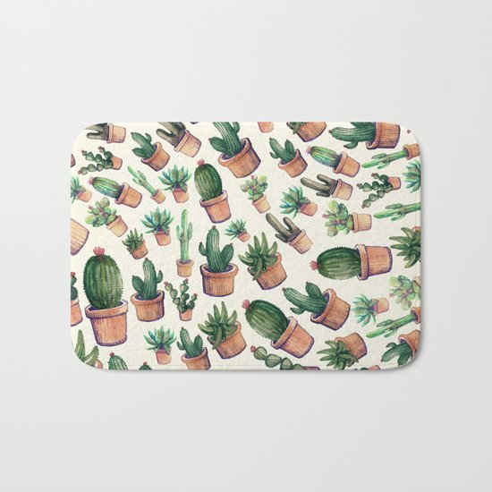 cactus big invasion!! Bath Mat