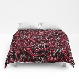 Spaceship Girl_Red Comforters