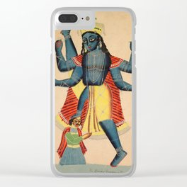 Trivikramapada (Three Steps of Vishnu) - Vintage Indian Art Print Clear iPhone Case