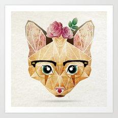 miss cat  Art Print