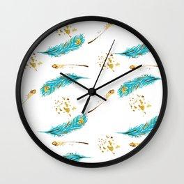 Peacocks a sparkle Wall Clock