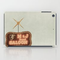 fargo iPad Cases featuring Retro Saloon Sign by angela haugland